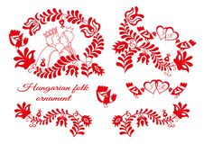 Volksverzierungssammlung der ungarischen Hochzeit lizenzfreie stockbilder