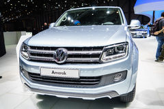 Volkswagen Amarok, Motor Show Geneve 2015. Royalty Free Stock Photos