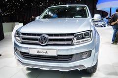 Volkswagen Amarok, Motor Show Geneve 2015. Royalty Free Stock Photos