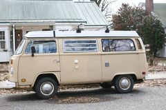 Volkswagen Antique Micro Bus Stock Photo