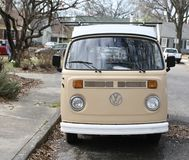 Volkswagen Antique Van. The Volkswagen Type 2, known officially depending on body type as the Transporter, Kombi or Microbus, or, informally, as the Bus or royalty free stock photos