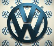 Volkswagen-Autoemblem stock abbildung