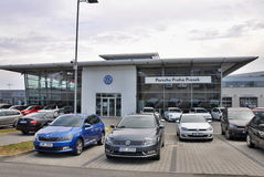 Volkswagen-Autospeicher Stockbild