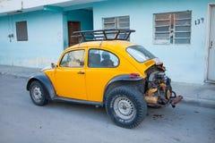 Volkswagen Beetle. Old Volkswagen Beetle standing in the street Royalty Free Stock Photography