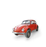 Volkswagen beetle. A orange volkswagen beetle bug isolated on white with a slight shadow royalty free stock photo