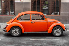 Volkswagen Beetle in Budapest. Royalty Free Stock Images
