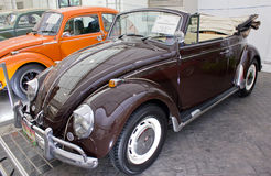 Volkswagen Beetle Cabriolet 1600CC On Display. Stock Images