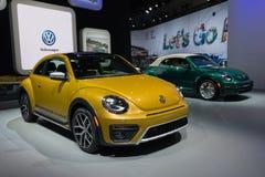 Volkswagen Beetle diuna Fotografia Royalty Free