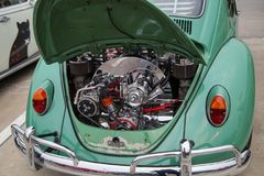 Volkswagen beetle 1967 engine stock photos
