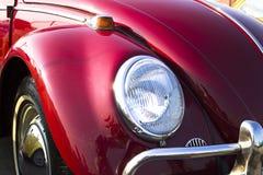 Volkswagen Beetle. Front View of a vintage red Volkswagen VW Beetle stock images