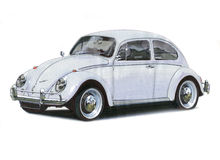 Volkswagen Beetle - Grey Immagine Stock
