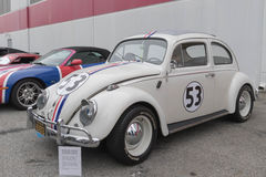 Volkswagen Beetle Herbie on display Royalty Free Stock Images