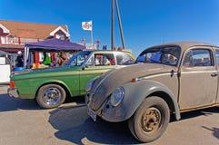 Volkswagen Beetle no cinza imagens de stock royalty free