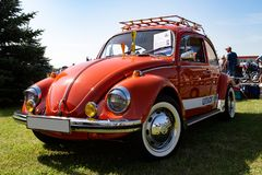 Volkswagen Beetle at old-timer car show stock image
