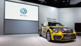 Volkswagen Beetle #34 Rallycross Stock Image