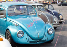 Volkswagen Beetle Retro Vintage Car. Royalty Free Stock Images