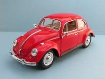 Volkswagen Beetle rosso Fotografia Stock