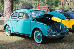 Volkswagen Beetle Sunroof on display Stock Photos