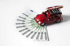 Volkswagen beetle toy car Stock Photos