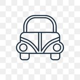 Volkswagen beetle vector icon isolated on transparent background vector illustration