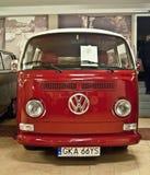 Red Volkswagen bus in a museum Stock Photos