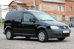 Volkswagen caddy 2006 black. Klima Royalty Free Stock Images