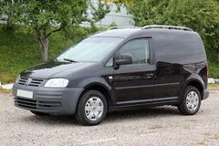 Volkswagen caddy 2006 black. Klima Royalty Free Stock Image