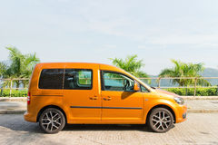 Volkswagen CADDY 2014 Test Drive Royalty Free Stock Images
