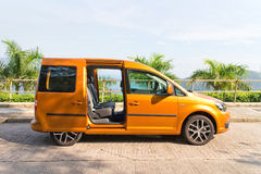 Volkswagen CADDY 2014 Test Drive Stock Images