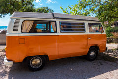 Volkswagen camper van Stock Photos