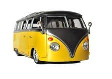 Volkswagen campervan. A volkswagen campervan isolated on white, retro royalty free stock images