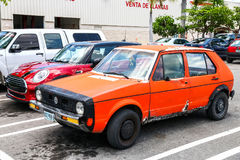 Volkswagen Caribe. CANCUN, MEXICO - MAY 16, 2017: Motor car Volkswagen Caribe in the city street stock photos