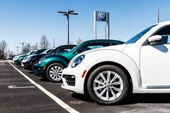 Indianapolis - Circa March 2018: Volkswagen Cars and SUV Dealership. VW is Among the World`s Largest Car Manufacturers II. Volkswagen Cars and SUV Dealership. VW Stock Images