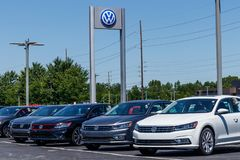 Indianapolis - Circa July 2018: Volkswagen Cars and SUV Dealership. VW is Among the World`s Largest Car Manufacturers X Stock Photo