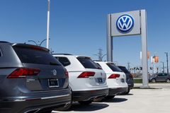 Lafayette - Circa April 2018: Volkswagen Cars and SUV Dealership. VW is Among the World`s Largest Car Manufacturers VII. Volkswagen Cars and SUV Dealership. VW Stock Photography