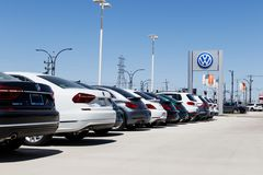 Lafayette - Circa April 2018: Volkswagen Cars and SUV Dealership. VW is Among the World`s Largest Car Manufacturers VIII. Volkswagen Cars and SUV Dealership. VW Royalty Free Stock Photos