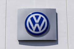 Indianapolis - Circa September 2017: Volkswagen Cars and SUV Dealership. VW is Among the World`s Largest Car Manufacturers X Royalty Free Stock Photo