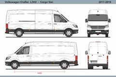 Volkswagen Crafter Cargo Van L3H2 2017-2018 stock de ilustración