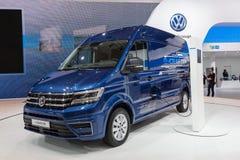 Volkswagen Crafter Elektryczny Van Fotografia Stock