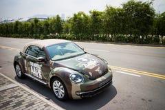 Volkswagen de nieuwe kever 2013 met AAPE-lichaam Royalty-vrije Stock Afbeelding