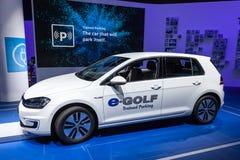 Volkswagen-e-golf bij IAA 2015 Stock Foto