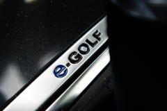 Volkswagen e-golf e-golf logo 2017 Royaltyfri Fotografi