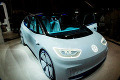 Volkswagen Electric Concept Car at CES 2017 Royalty Free Stock Photography