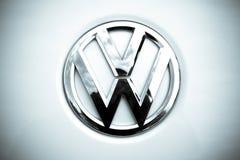 Volkswagen-embleem royalty-vrije stock foto's