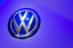 Volkswagen emblem on display Stock Photos