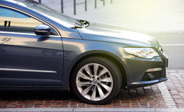 Volkswagen emissions scandal - Volkswagen Passat parked in city Royalty Free Stock Photos
