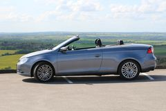 A Volkswagen Eos convertable. A Volkswagen Eos parked up royalty free stock photography