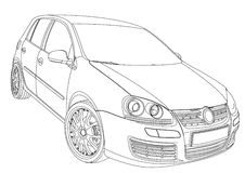 Volkswagen Golf 5 Stock Photo