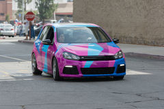 Volkswagen Golf-auto op vertoning Stock Foto's