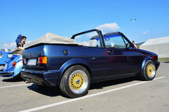 Volkswagen golf cabrio 1800 classic car. Volkswagen golf cabrio 1800 classic convertible car ina parking lot in Cluj-Napoca, Romania Stock Image